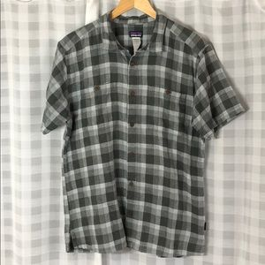 Patagonia Plaid Short Sleeve Button Down Shirt